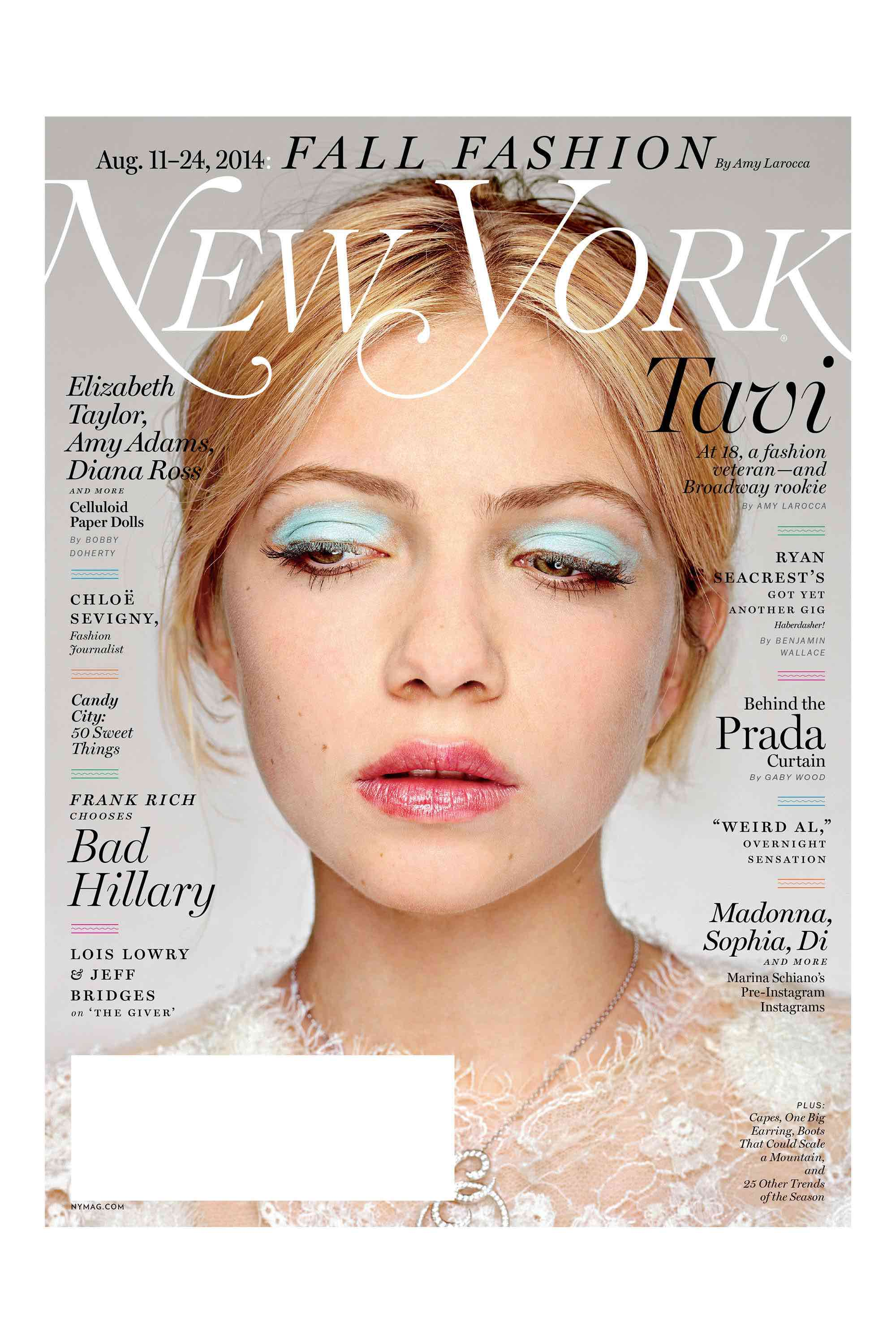 Tavi Gevinson New York Magazine Blue Eyeshadow